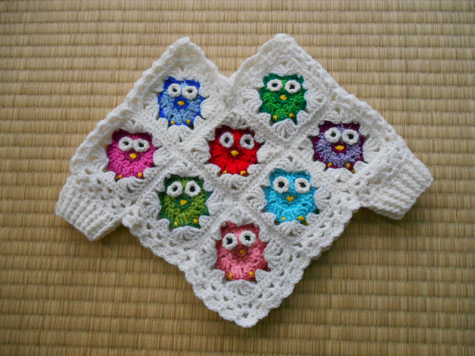 All Crochet Com : first did the owl crochet parts, doing every owl twice so front and ...